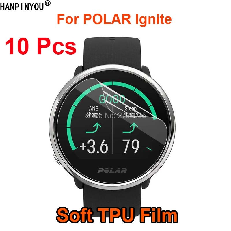 10 unids/lote para POLAR Ignite GPS reloj inteligente suave TPU película Protector de pantalla (no vidrio templado)