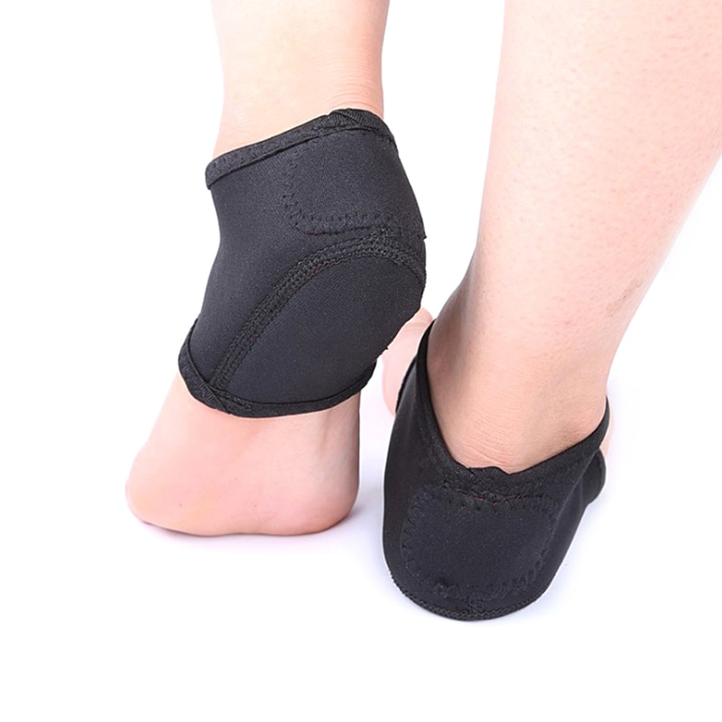 2 Pairs Foot Skin Care Foot Heel Ankle Wrap Socks Pads Unisex Plantar Therapy Pain Relief Arch Suppo