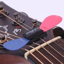 1pc porte-crochets de guitare en caoutchouc noir fixe sur poupée pour guitare basse ukulélé