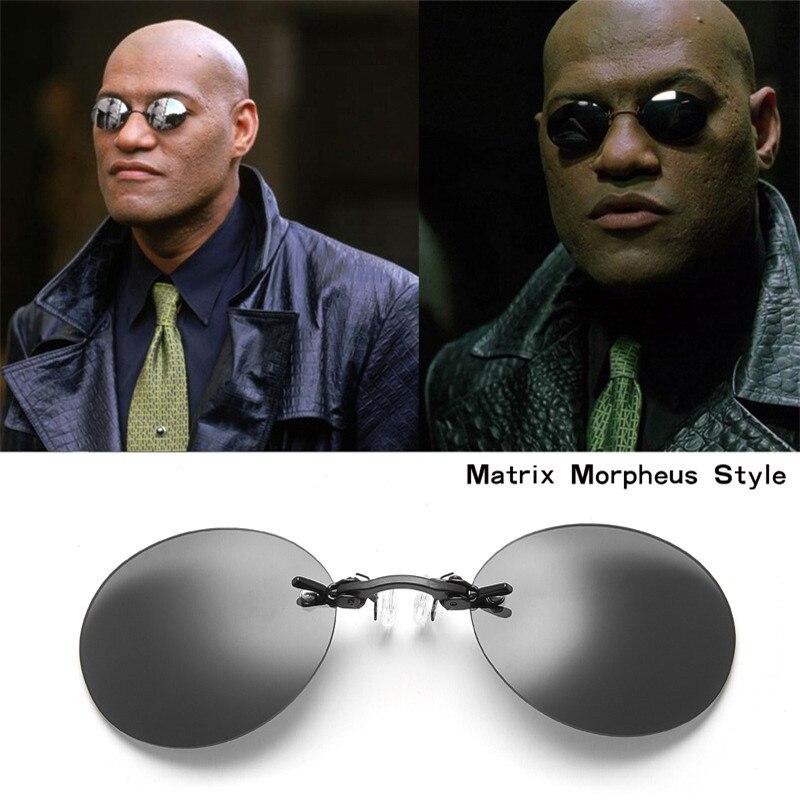 Vazrobe, Mini lentes de sol polarizados para la nariz, lentes redondos rectangulares espejados, Matrix Star, gafas novedosas