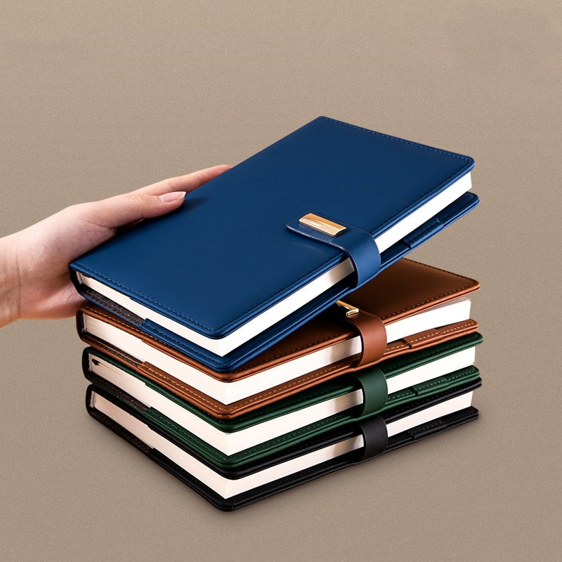 2021 new agenda coil spiral a5 diary notebook grid paper daily planner organizer notepad school office supplies stationery A5 Notebook Office Journal Spiral Diary Journal Line Notepad Daily Agenda Planner Organizer Business Note Book Hasp Sketchbook