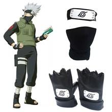 Anime Hapyto Hatake Kakashi fascia maschera per il viso guanti pacchetto di armi Cosplay Prop