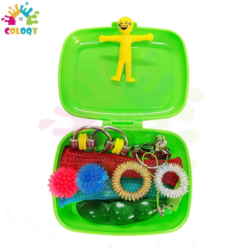 COLOQY 10 Fidget Toys Pop it Sensory Antistress Toy Pack Squishy Squish mallow Decompression Stress Reliever Toy For Adults Kids enlarge