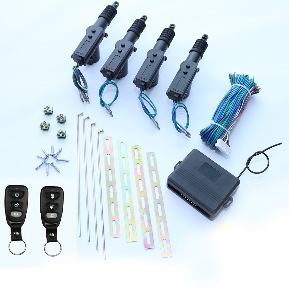 Universal Car Door Lock Keyless Entry System Remote Central Control Locking Kit with Trunk Release Button enlarge