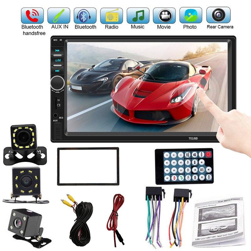 "Reproductor Multimedia para coche 2 Din Autoradio 7018B 7 ""reproductor Multimedia Mp5 estéreo pantalla táctil Video coche Radio Audio reproductor Bluetooth"
