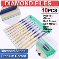 180mm shaping modelling set jewellery repair jewellers key word diamond file diamond needle file craft 10pcs precision d30