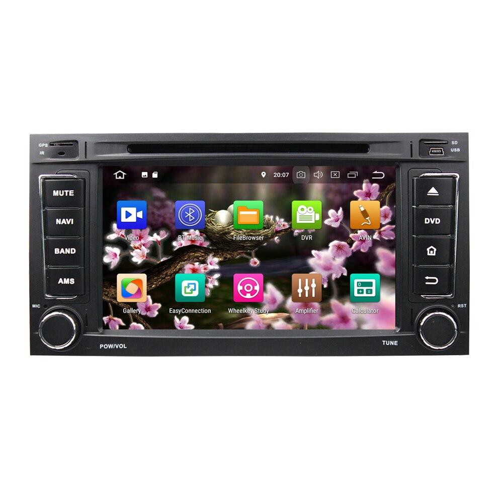 "7 ""Android 9,0 PX6 reproductor de DVD de coche para VW TOUAREG 2002-2010 MULTIVAN 2008-2012 Audio estéreo Radio 6 Core reproductor Multimedia DSP"