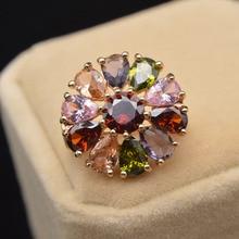 CINDY XIANG 8 couleurs disponibles Zircon fleur broche broche petit collier broches pour les femmes brillant bijoux de mode BR10-0022