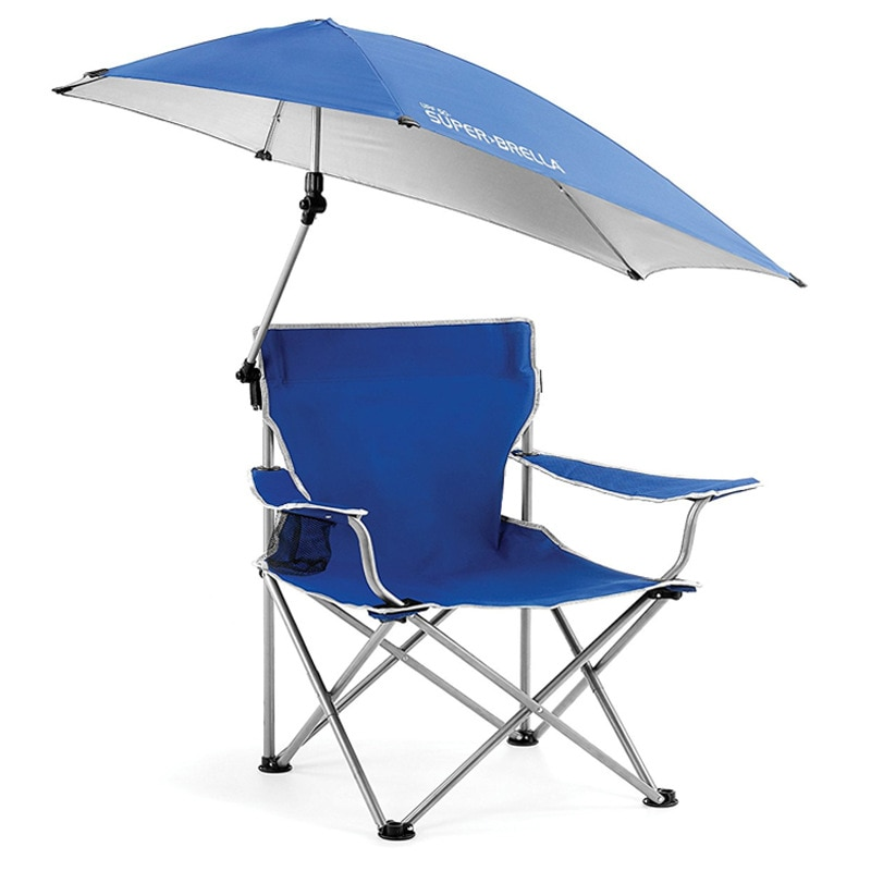 S-tadpoles Camping Fishing Chair Backpacking Portable Folding Umbrella Canopy Chair With Cup Holder Outdoor Beach Rest Seat