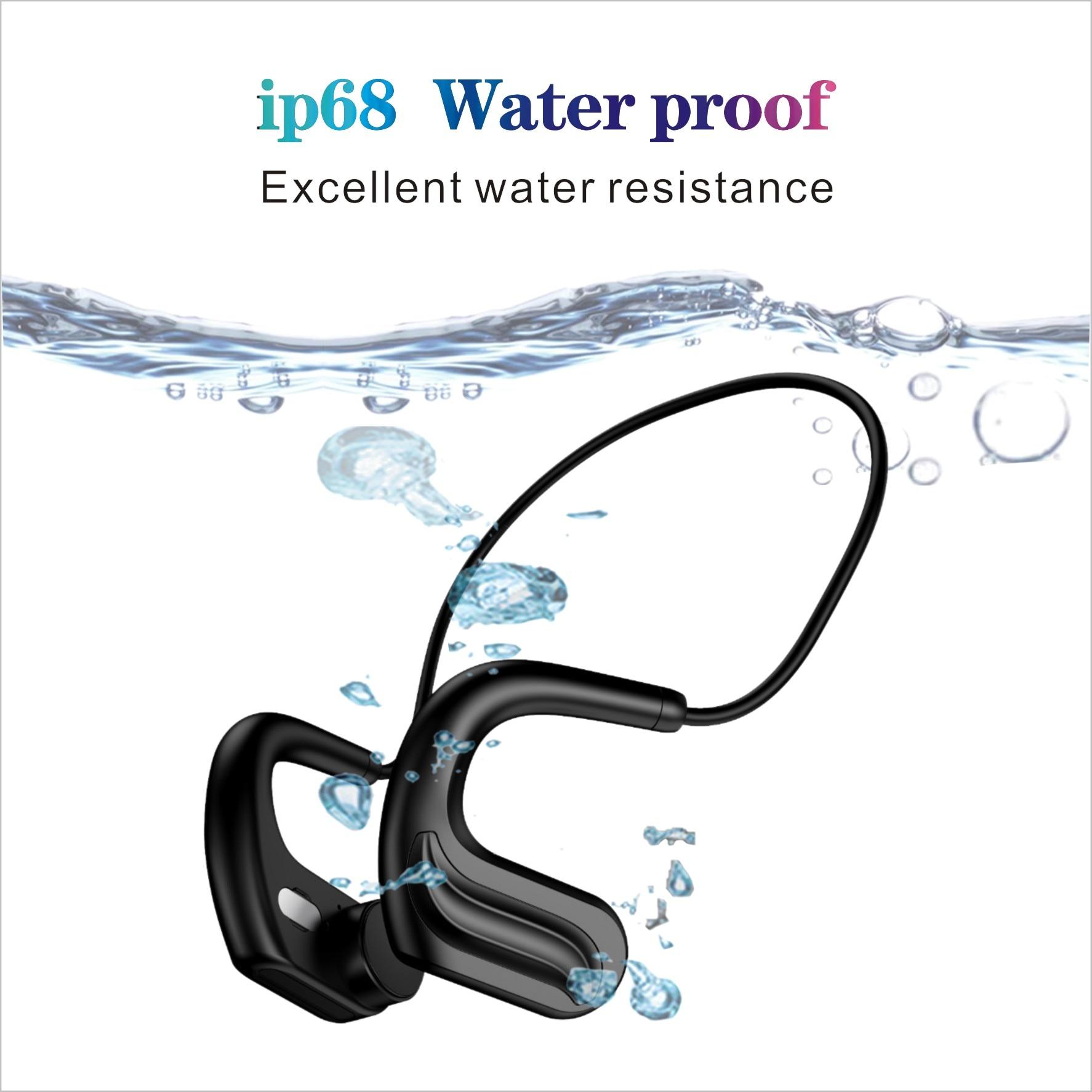 IP68 Waterproof MP3  Bluetooth  Bone conduction earphone strong endurance 32GB memory enlarge