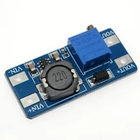 5pcslot mt3608 dc dc step up converter booster power supply module boost step up board max output 28v 2a for arduino