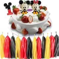 18pcset mickey mouse minnie mouse ornaments cake topper baby birthday party decoration cake decoration supplies birthday gift