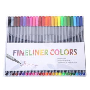 Professional Finliner 0.4 Mm 24 Fineliner Pens Color Fineliners Set Markers Quality Colorful Art Marker Pen Art Painting Fine