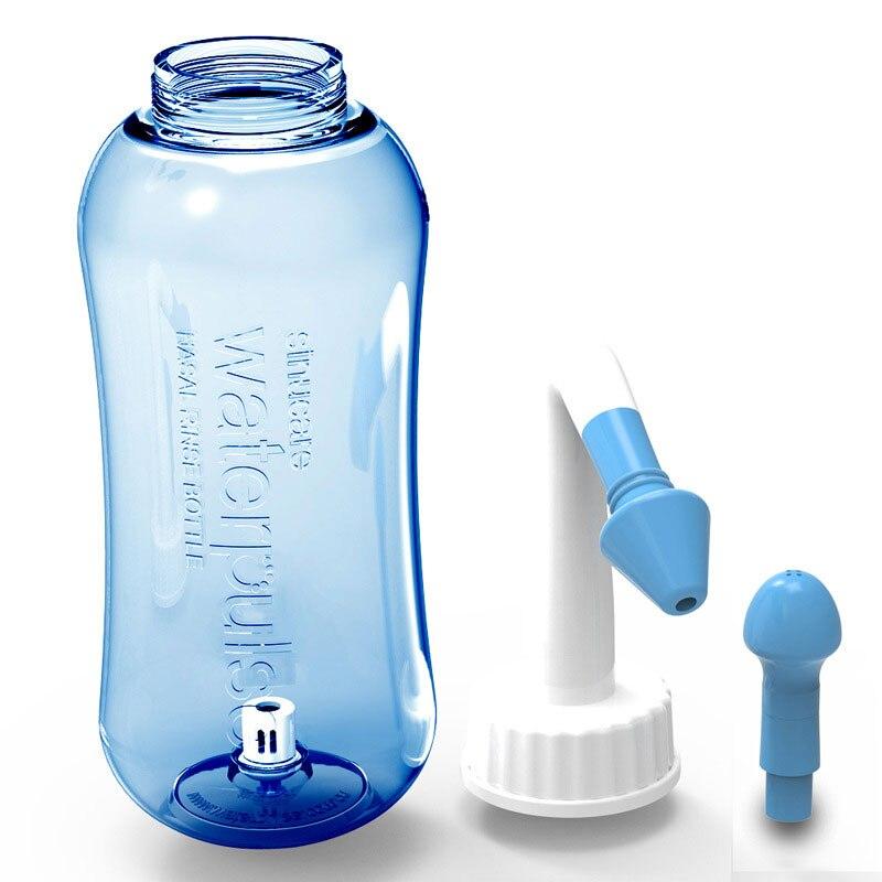 300ml lavagem nasal neti pote saquetas sinus nariz garrafa de limpeza irrigador nasal lavar pote salino crianças cuidados com o nariz do bebê dro