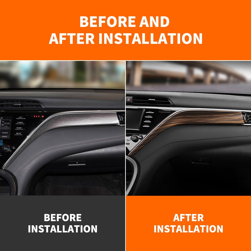 For Toyota Camry 8TH XV70 Refit 2018 2019 2020 2021 Central Control Dashboard Panel Sticker Car Accessories enlarge