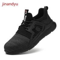 working shoes man safety steel toe shoes breathable casual anti puncture work clothes safeguard safty boots men sneakers