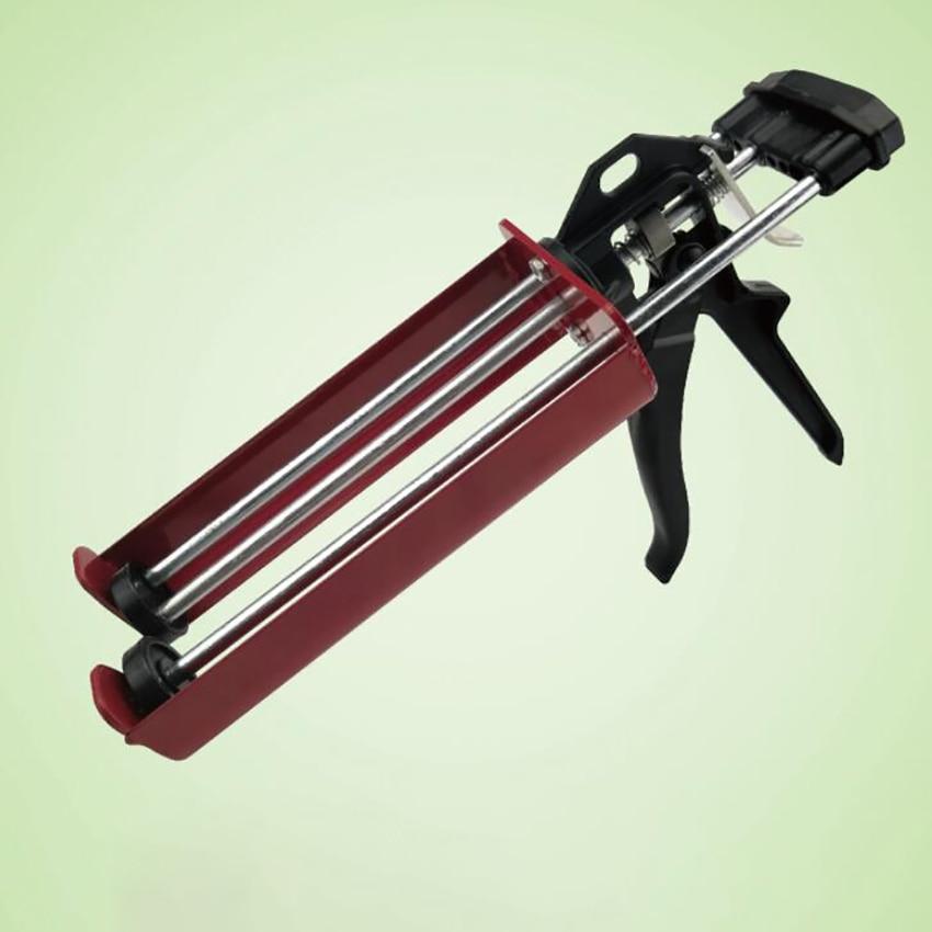400ml Steel Dual Component Cartridge Gun Applicator Hydraulic Manual Glue Gun Caulk Gun for Ceramic Tile Seam Home Repair