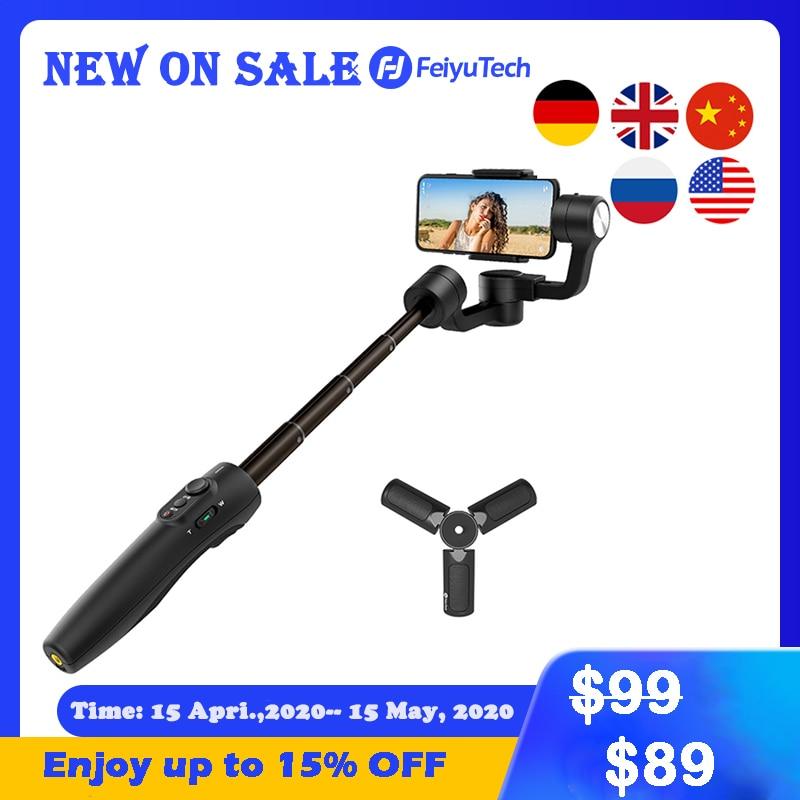 FeiyuTech Vimble 2s de Smartphone cardán teléfono estabilizador Selfie Stick 180mm ampliar Polo para iPhone 11 X Xs X XIAOMI Samsung