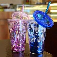450ML lisse lait frappé Smoothie boisson bouteille deau mode Portable en plastique été glacé café jus bouteilles tasse avec paille