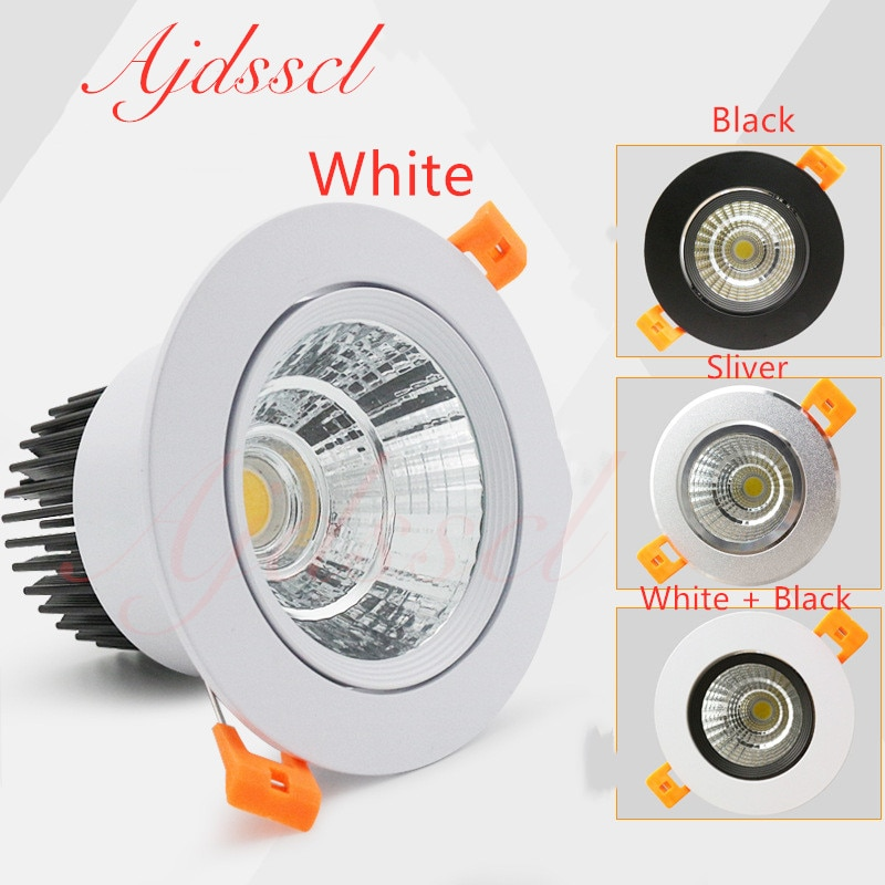 Downlight  LED Dimmable  Lamp 3w 5w 7W 12w 15w 20w  30w 40w Cob Led Spot 220V/110V Ceiling Recessed round panel light gd dimmable led recessed downlight 3w 5w 7w 10w 12w 15w 20w 24w spot led ceiling down light 110v 220v 230v cob led downlight