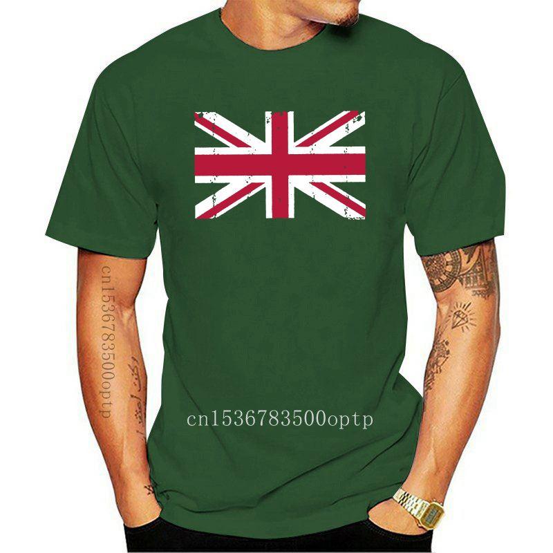 100% Cotton T-shirts Men's Basic Tops & Tees Great Britain Flag England British Union Jack T-Shirt New