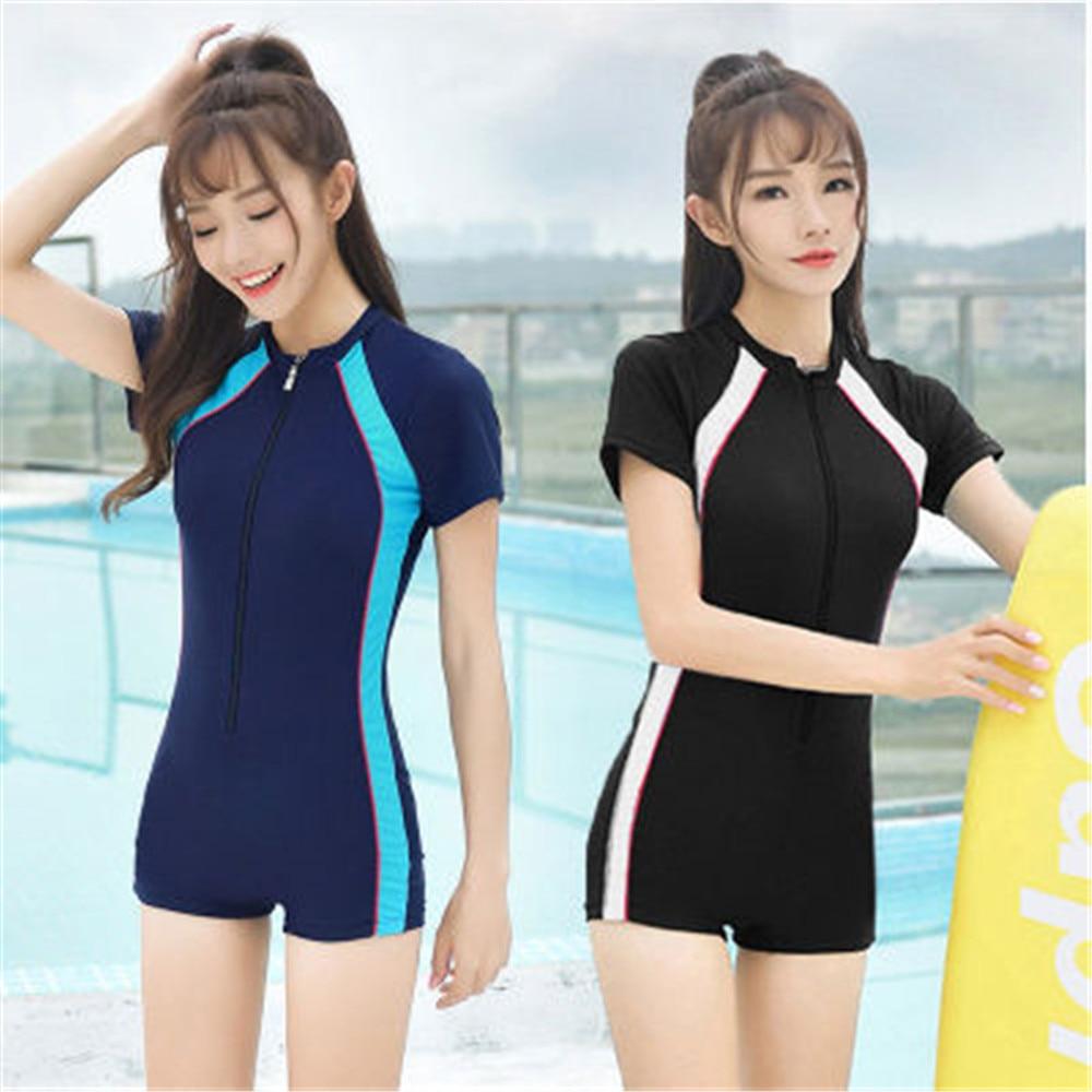 S-4XL nuevo 2020 las mujeres traje de baño Profesional de las mujeres deporte piscina ropa de talla grande en Stock de alta calidad de traje de baño envío rápido