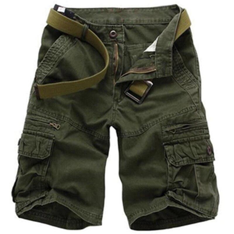 Мужские свободные камуфляжные шорты, повседневные тактические шорты-карго в стиле милитари, хлопковые камуфляжные шорты, Новинка лета 2021