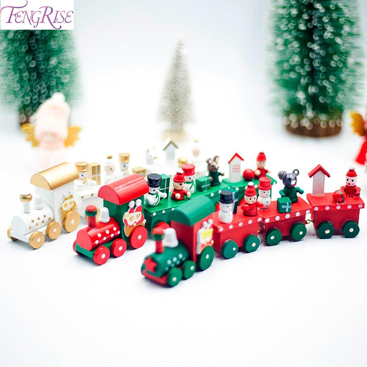Tren de madera de Navidad, colgantes de Navidad, adornos colgantes de Navidad, decoración de árbol de Navidad, Navidad 2020, decoración de Navidad para el hogar