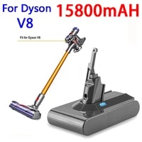 for dyson v8 21 6v battery for dyson v8 15800mah battery v8 series v8 fluffy li ion sv10 vacuum cleaner rechargeable battery l70