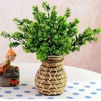 1 bouquet artificial fake flower green grass plant home office wedding decor