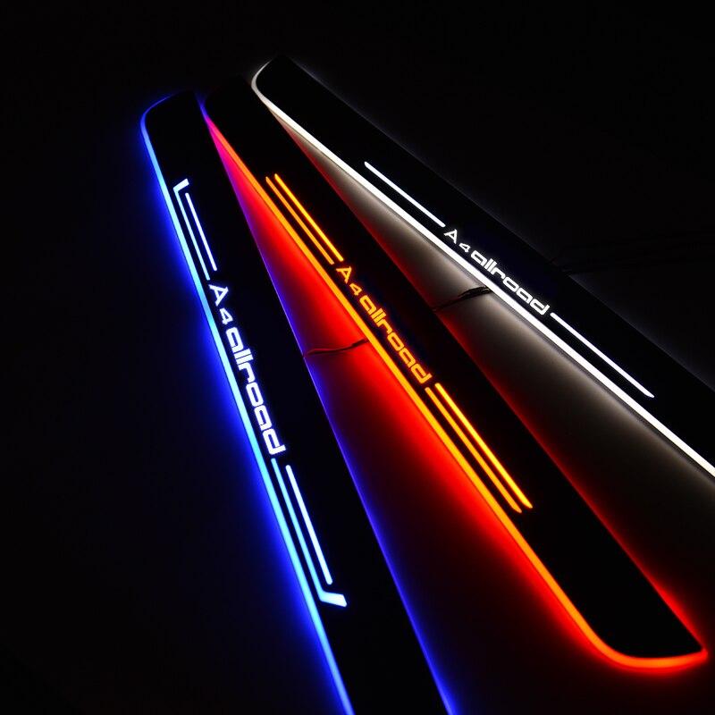 Umbral de puerta LED para Audi A4 Allroad 8WH B9 2016-2020 8KH B8 2009 - 2016 placa de desgaste de puerta camino de bienvenida accesorios de luz de coche
