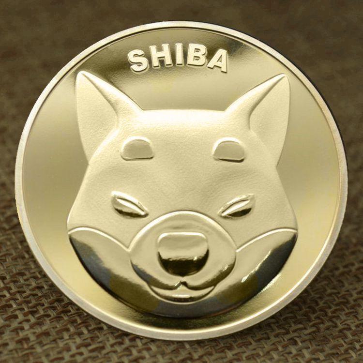 SHIBA Souvenir Metal Gold Plated Physical SHIBA SHIB Coin Souvenir Commemorative Coins Collectible Coins Cryptocurrency Coin недорого