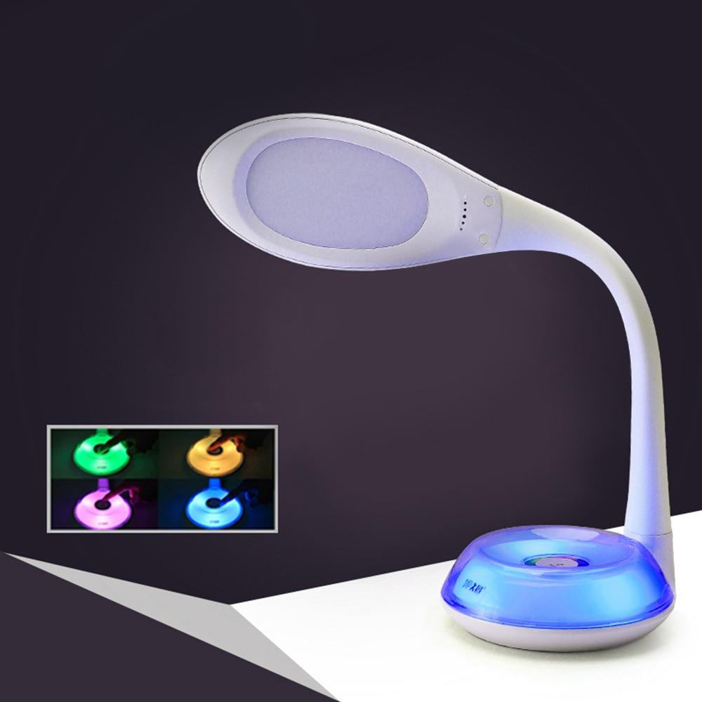 256 волшебный цвет светодиодный стенд лампа настольная Гибкая сенсорный