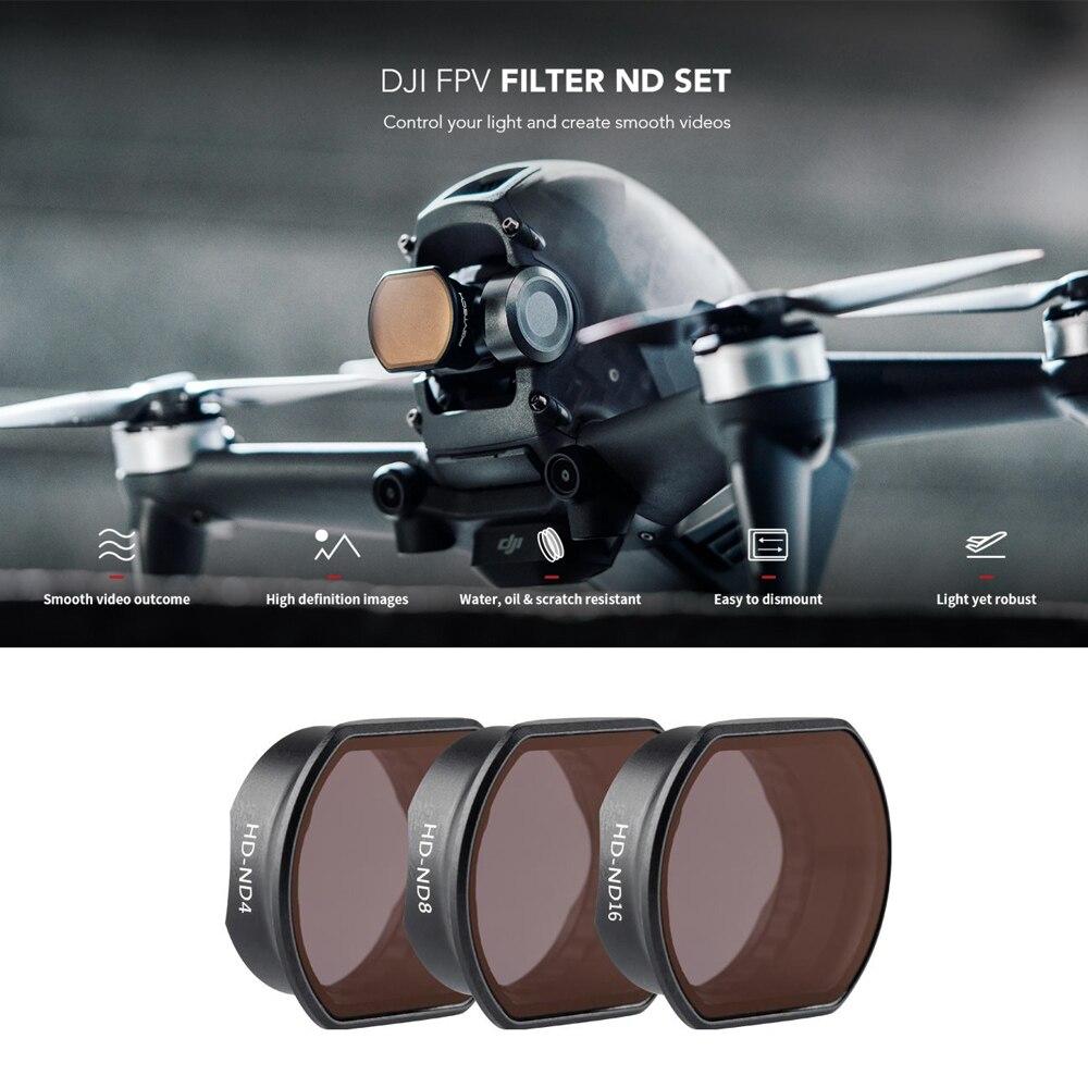 PGYTECH DJI FPV كومبو ND مجموعة فلاتر ND 4 ND8 ND16 عدسة الكاميرا تصفية تصفية ل DJI FPV كاميرا الملحقات