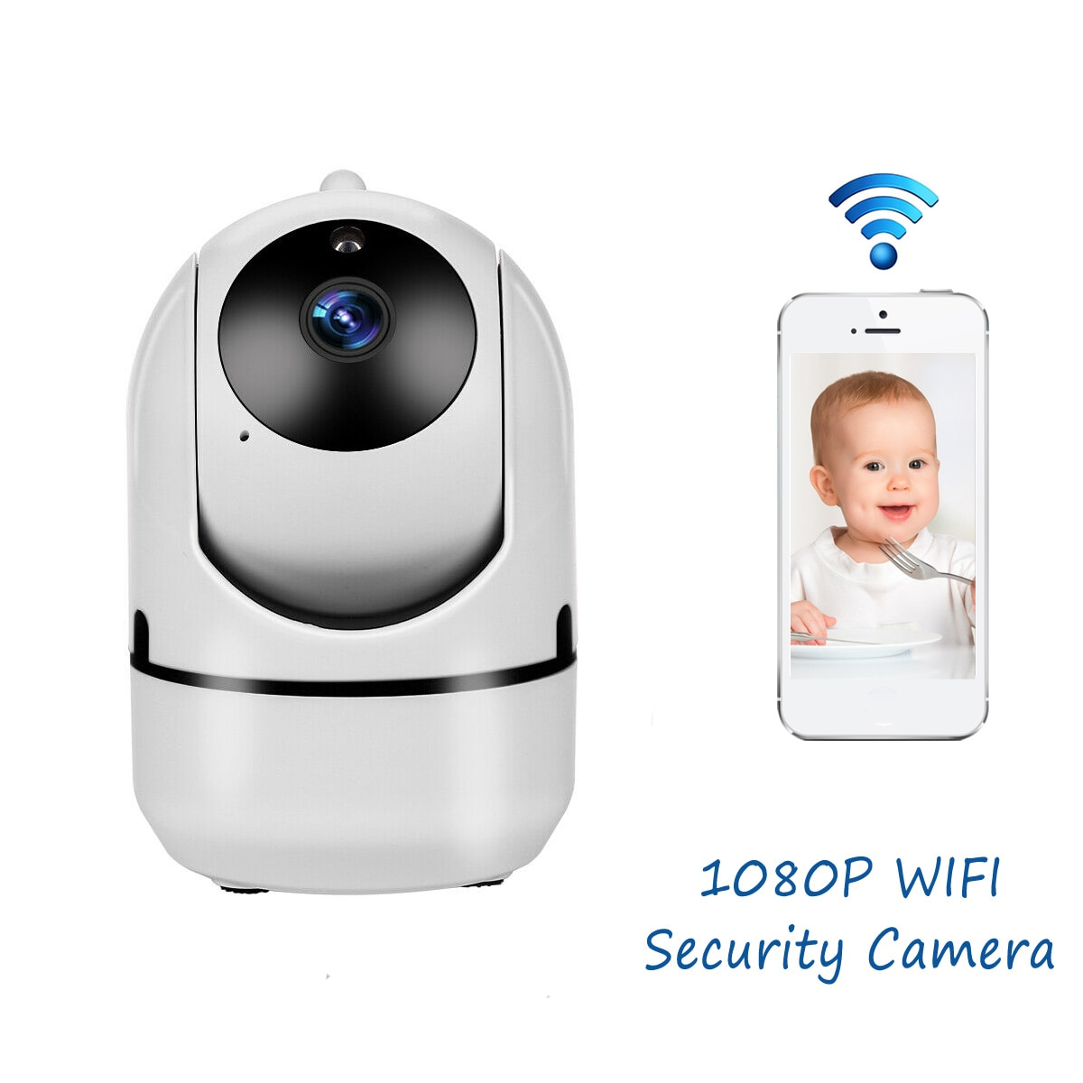 Mini Baby Monitor IP Camera Auto Tracking HD 1080p Indoor Home Wireless Wifi Camera Security Surveillance CCTV Camera