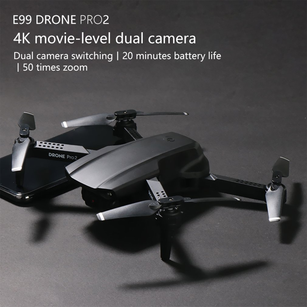 E99 PRO2 Mini RC الطائرة بدون طيار 4K كاميرا واي فاي FPV التصوير الجوي هليكوبتر طوي كوادكوبتر هدية لعبة أطفال
