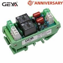 Livraison gratuite GEYA 2 canaux relais Module ca/cc 12V 24V AC230V relais électromagnétique usage général AC220v relais Module