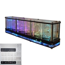 Imiteren Full Color Rgb Glow Buis Klok Led Muziek Spectrum Diy Kits Decor Gift 23Gb