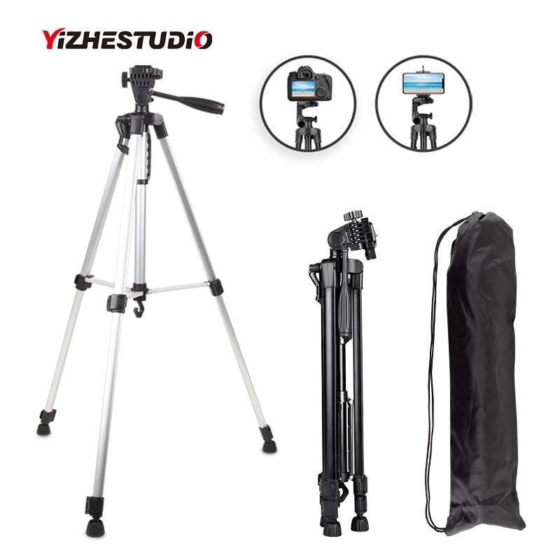 Yizhestudio-trípode para cámara, soporte Profesional con Clip para teléfono, ajustable, para Gopro, DSLR, Smartphone, 50-140 cm