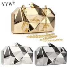 Iron Shoulder Bags Strap Chain Sling Purse Women Clutch And Purse Silver Gold Evening Clutches Geome