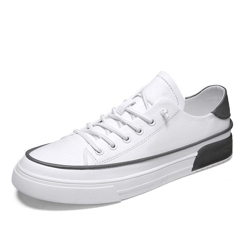 حذاء ركوب الدراجات من الجلد المسطح للرجال ، أحذية رياضية على الطراز البريطاني في الهواء الطلق ، أحذية رياضية صغيرة عصرية للرجال