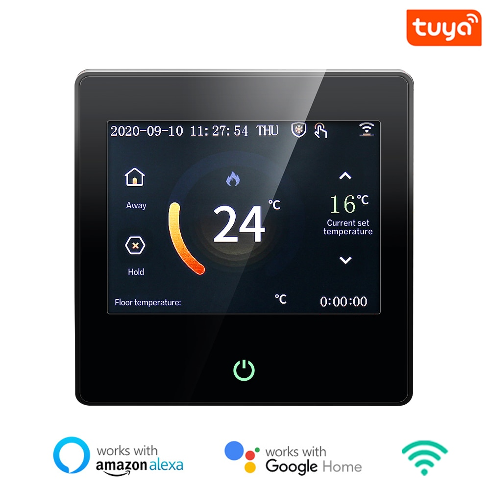 Tuya WiFi Smart Thermostat, Heating Temperature Controller with Celsius/Fahrenheit LED Touch Screen Work with Alexa Google Home wifi temperature regulator heating thermostat digital lcd touch screen temperature controller thermoregulator with alexa home