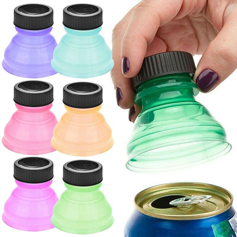 Tapa de lata para bebidas de 6 uds., tapas reutilizables para latas de bebidas, tapa de botella, tapa superior de tapa de botella de refresco, ahorra, tapa de copa de Camping