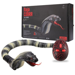 Snake Toy Cobra De Brinquedo Electronic Assembled Pets Trickery Infrared Remote Control Simulation Creeped Rattlesnake With USB