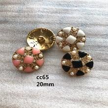 Accessoires de couture en métal doré   1 lot = 10 pièces manteau de costume, boutons de qualité supérieure, boutons noir, 20mm CC65