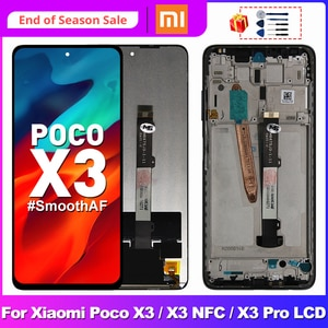 Original For Xiaomi POCO X3 Display LCD Touch Screen Digitizer For POCO X3 Pro NFC LCD Replacement Parts M2007J20CG Display