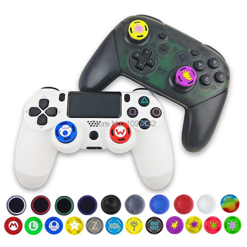 4 pçs silicone macio antiderrapante polegar aperto vara tampa capa caso pele para ps4/3 para xbox 360 para xbox um jogo acessórios
