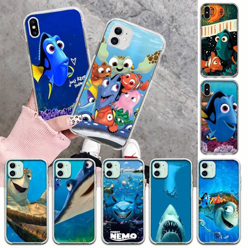CUTEWANAN encontrar Nemo pez Dory Nem película cliente funda para teléfono para iPhone 11 pro XS MAX 8 7 6 6S Plus X 5S SE XR cubierta