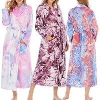 fashion women bathrobe coral fleece robe sweet top robe winter women long gown elegant bathrobe warm robe for ladies homewear