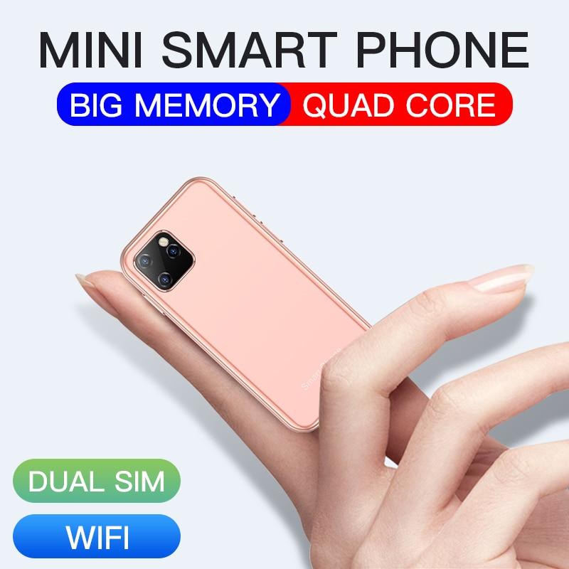 Mini Android 6.0 Cell Phones With 3D Glass Slim Cute Smartphone Google Play Market Body HD Camera Dual Sim Quad Core  UNIWA XS11